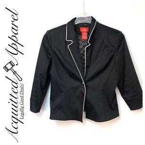 Oscar De La Renta | Womens Black Blazer Jacket